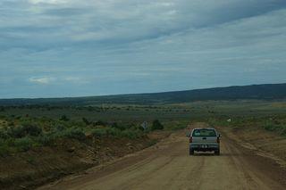 La piste dans la reserve Navajo
